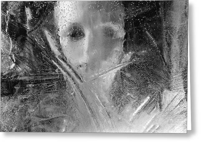 Through A Wintry Window Gaze... Thee Or Me? Greeting Card