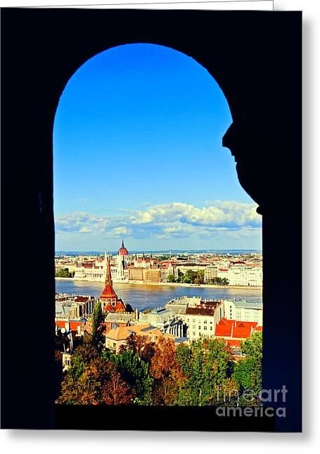 Through An Arch In Budapest Greeting Card by Madeline Ellis