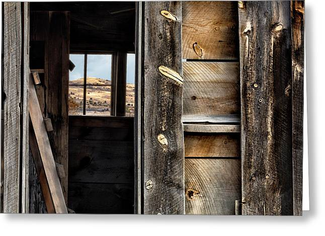Through Cabin Window Greeting Card