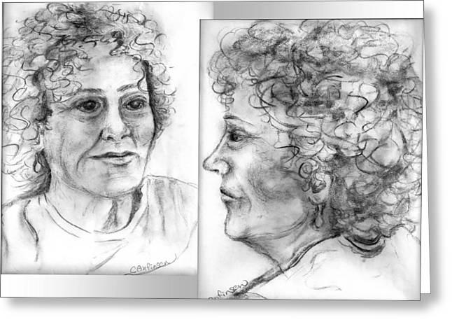Through Her Eyes Greeting Card by Carol Allen Anfinsen