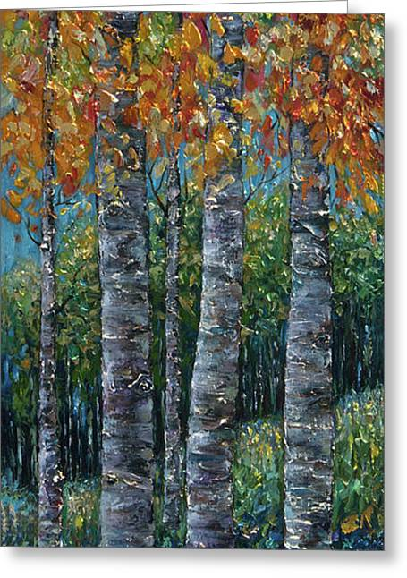 Through The Aspen Trees Diptych 2 Greeting Card