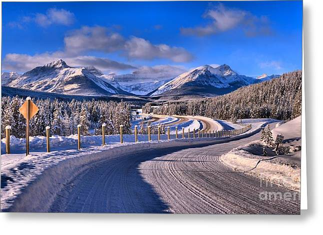 Through The Canadian Rocky Mountains Greeting Card by Adam Jewell