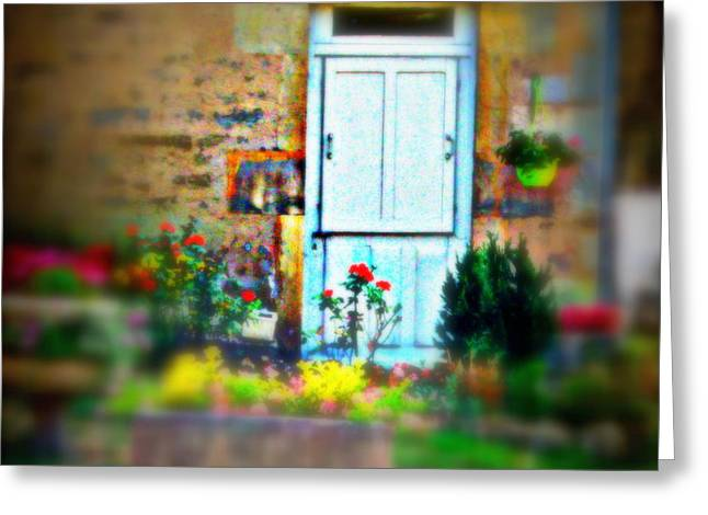 Through The Cottage Garden Greeting Card