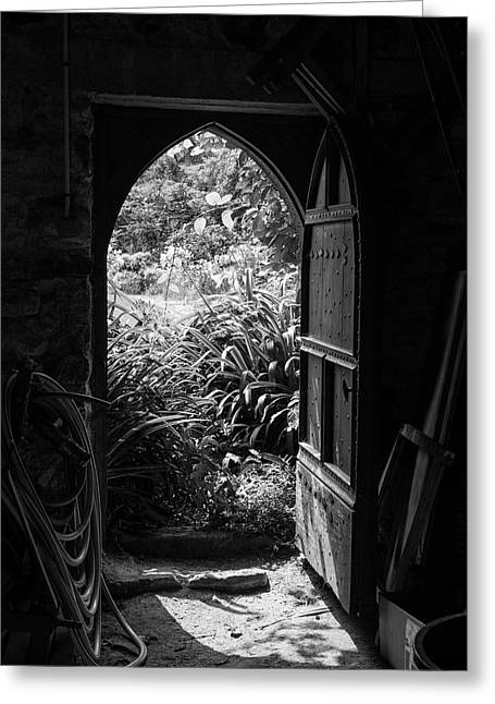 Greeting Card featuring the photograph Through The Door by Clare Bambers