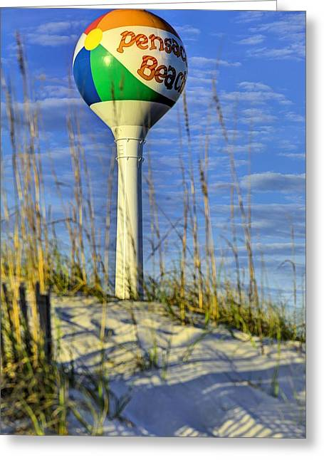 Through The Dunes Of Pensacola Beach Greeting Card by JC Findley
