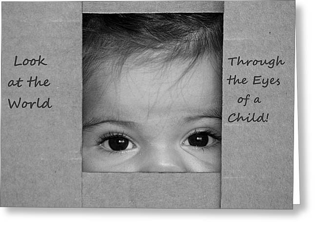 Through The Eyes Of A Child Greeting Card