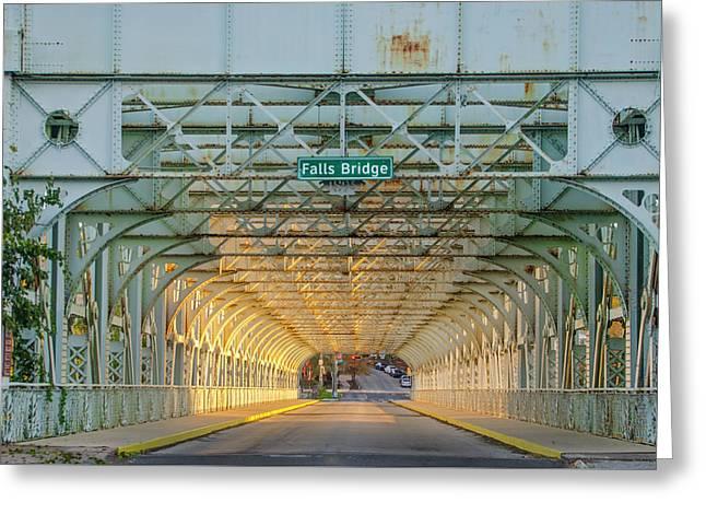 Through The Falls Bridge - East Falls Philadelphia Greeting Card