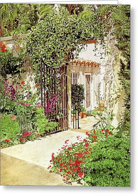 Through The Garden Gate Greeting Card