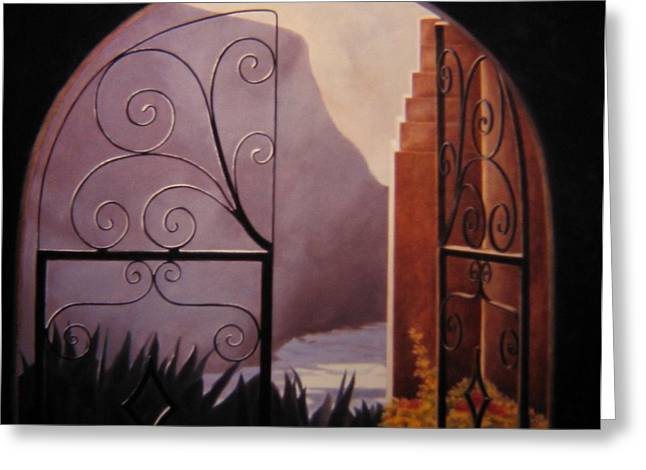Through The Gate Greeting Card