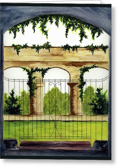 Through The Gates Greeting Card by Michael Vigliotti