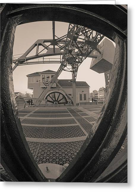 Through The Gear In Mystic Ct Greeting Card