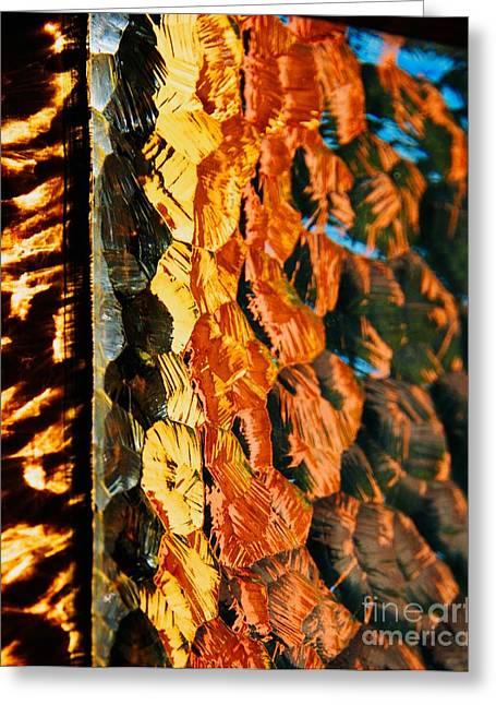 Through The Glass Greeting Card by Hideaki Sakurai