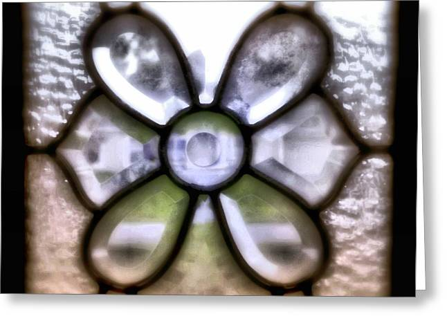 Through The Glass Greeting Card by Laura DAddona