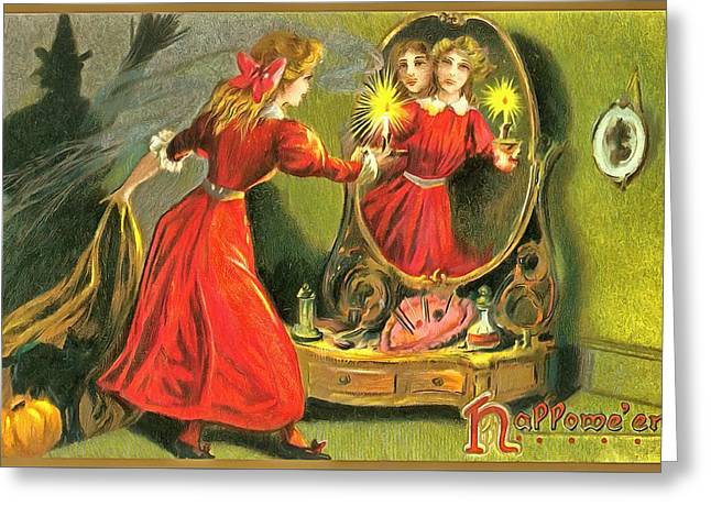 Through The Looking Glass Greeting Card by Unknown