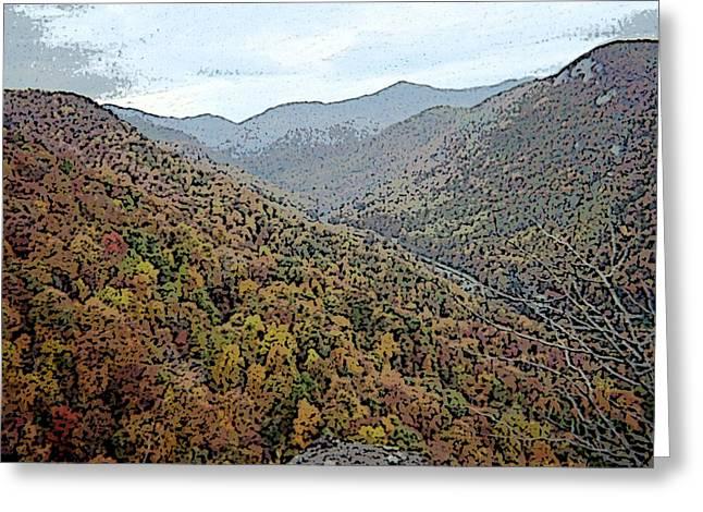 Through The Mountains Greeting Card by Skyler Tipton