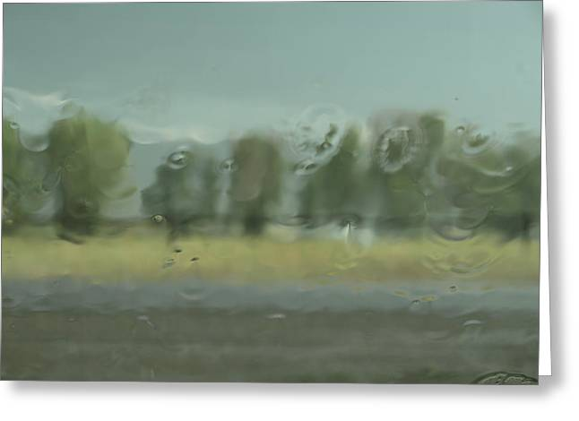 Through The Rain Greeting Card