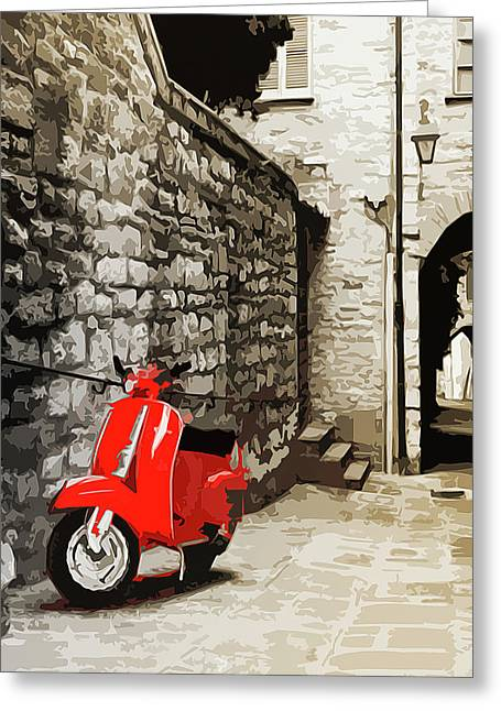 Through The Streets Of Italy - 01 Greeting Card by Andrea Mazzocchetti