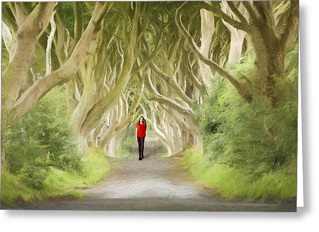 Through The Trees Greeting Card by Roy  McPeak