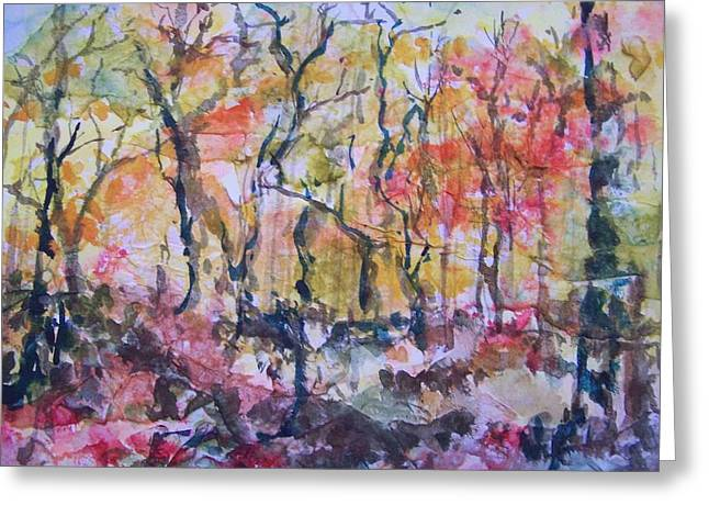 Through The Trees Greeting Card by Sandy Collier