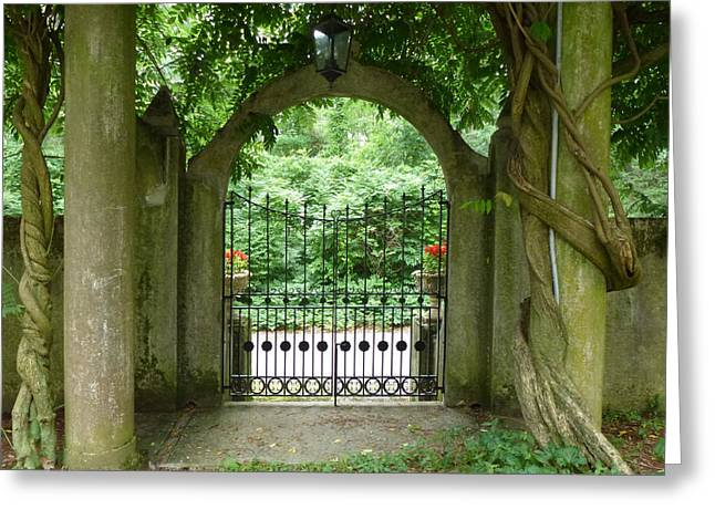 Through The Tuscan Gate Greeting Card