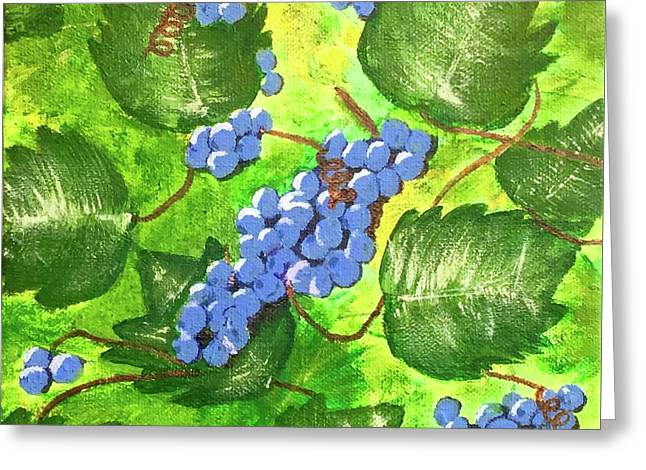 Through The Vines Greeting Card