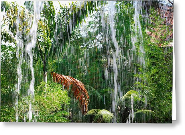 Through The Waterfall Greeting Card