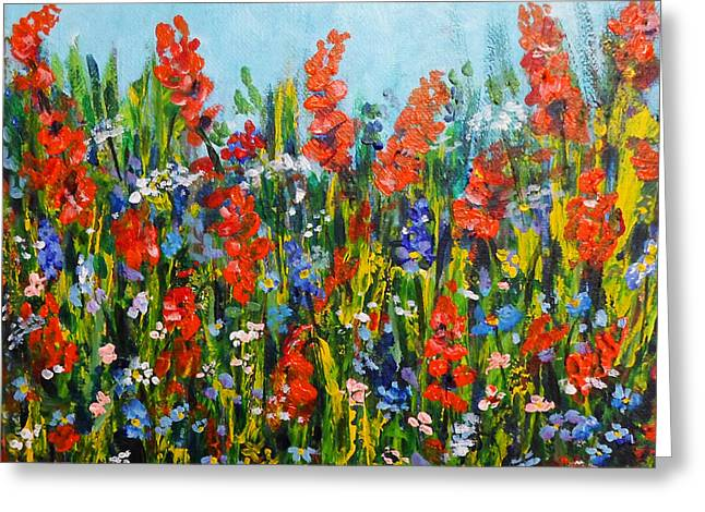 Through The Wild Flowers Greeting Card