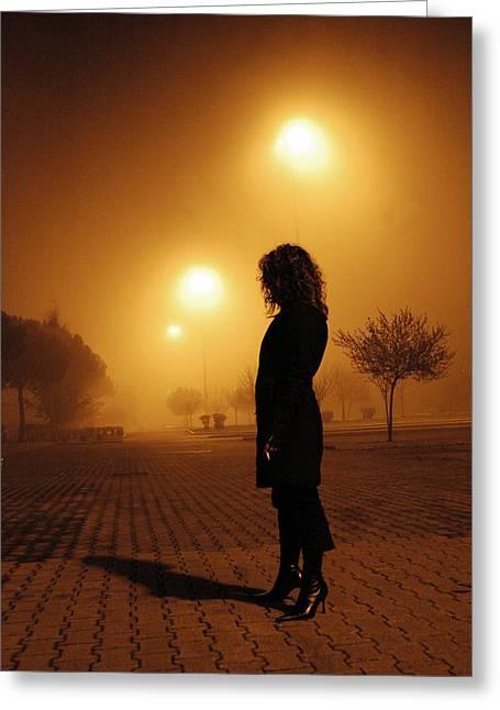 Thru The Fog Greeting Card by Diego Bonomo
