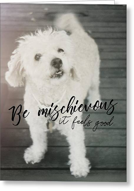 Thumper Dog Quote Greeting Card by JAMART Photography