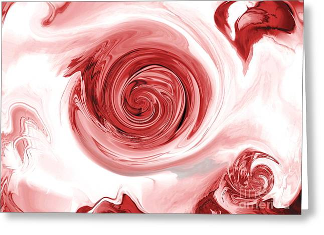 Thunder And Roses Greeting Card by Abstract Angel Artist Stephen K