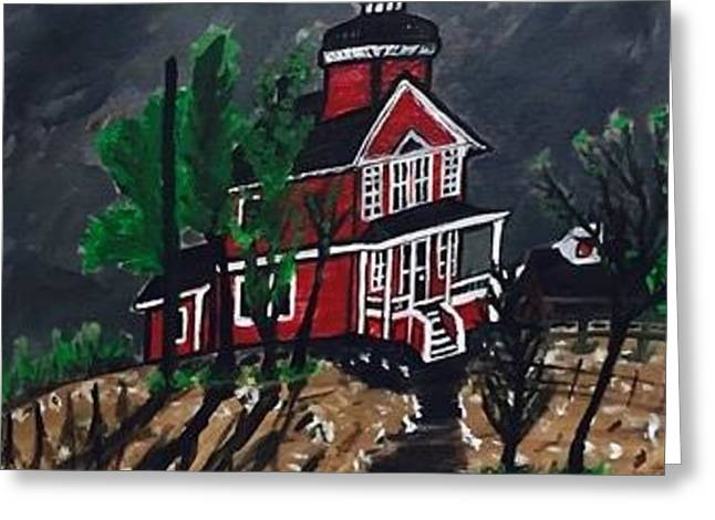 Thunder Bay Island Lighthouse Greeting Card
