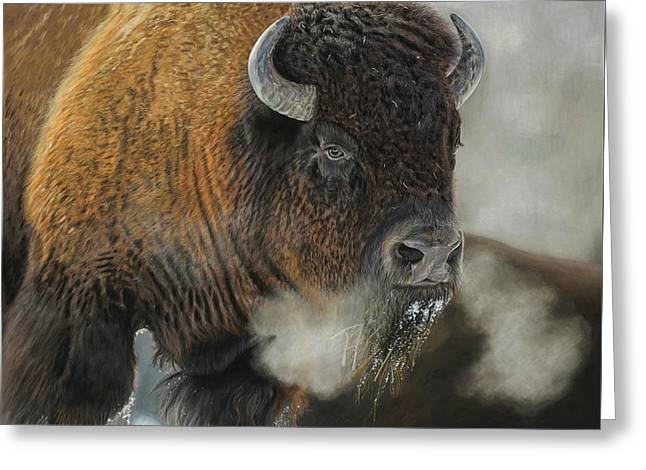 Thunder Beast Greeting Card by Terry Kirkland Cook