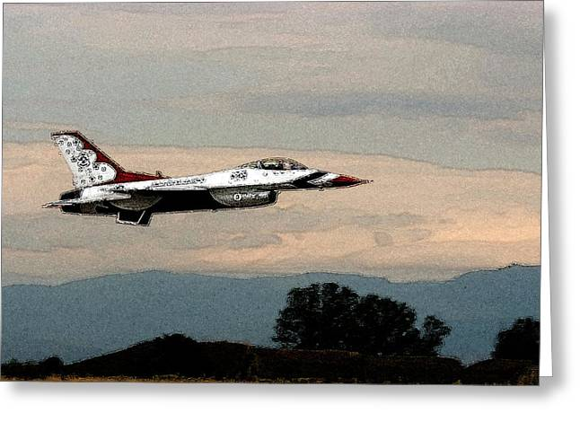 Thunderbird Greeting Card by Cliff Norton
