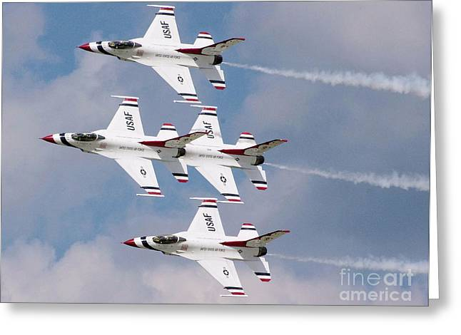 Thunderbird Diamond Formation Greeting Card by Stephen Roberson