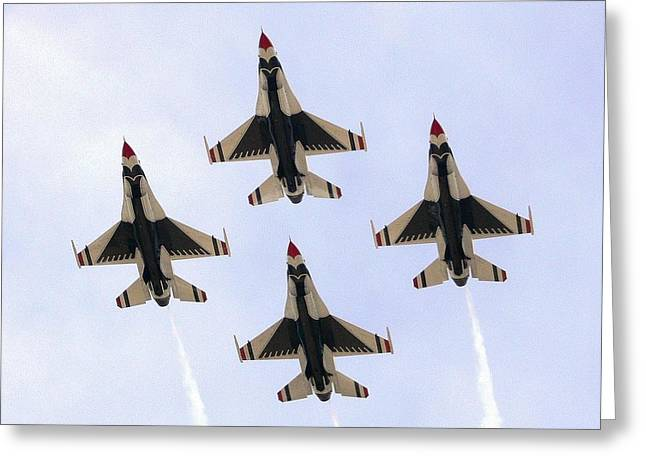 Thunderbirds Away Greeting Card by Kevin Fortier