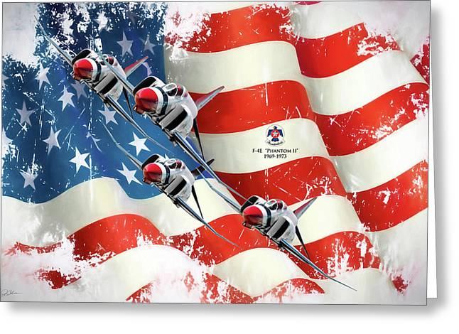 Thunderbirds F-4e Phantom II Greeting Card