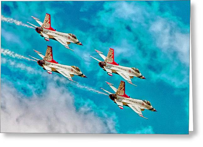 Thunderbirds In Formation II Greeting Card