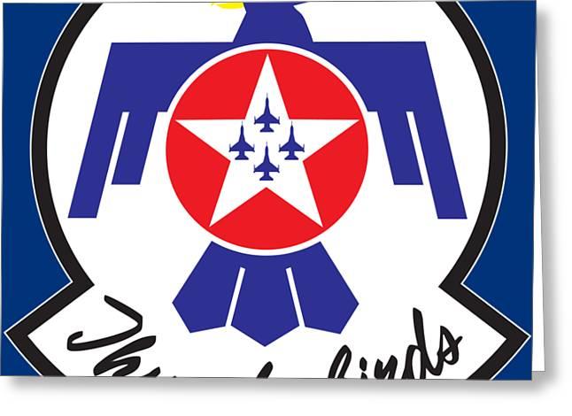 Thunderbirds Logo Greeting Card