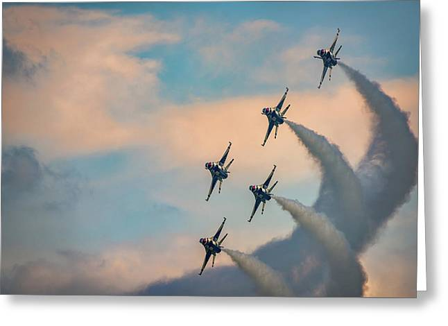 Greeting Card featuring the photograph Thunderbirds by Rick Berk