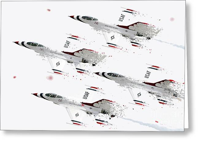 Thunderbirds Shatter Greeting Card by J Biggadike