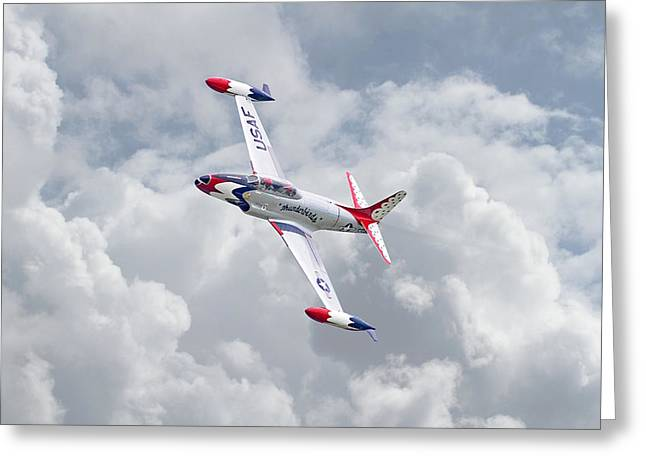 Thunderbirds - T33 Greeting Card by Pat Speirs