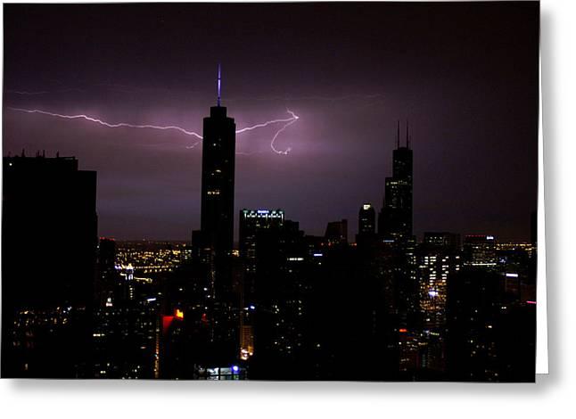 Thunderbolts Across The Sky Greeting Card