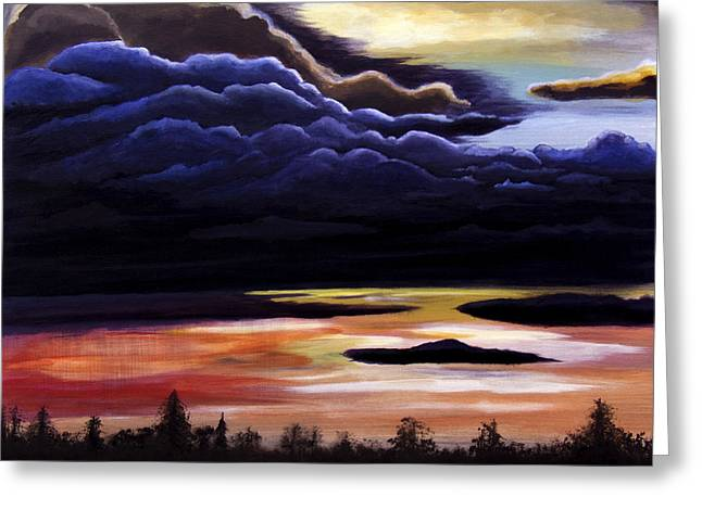 Thunderhead Greeting Card by Christie Nicklay