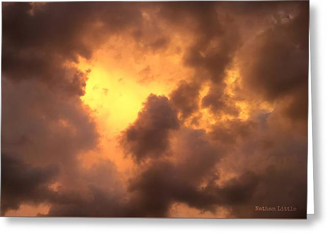 Thunderous Sunset Greeting Card
