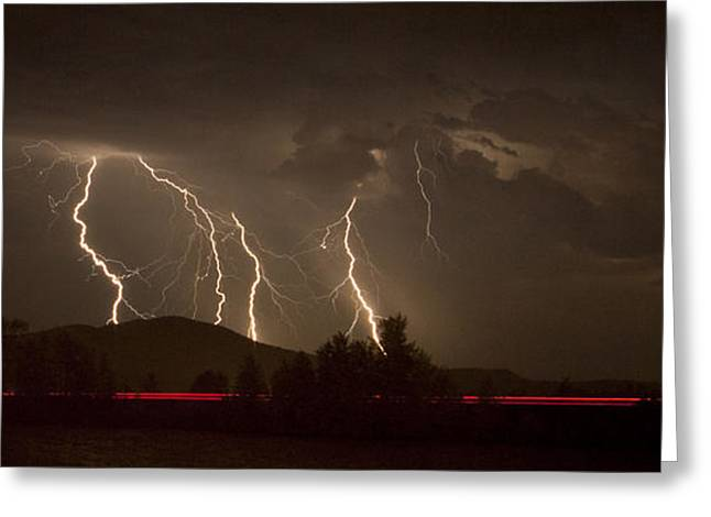Lake Pend Oreille Greeting Cards - Thunderstorm III Greeting Card by Albert Seger