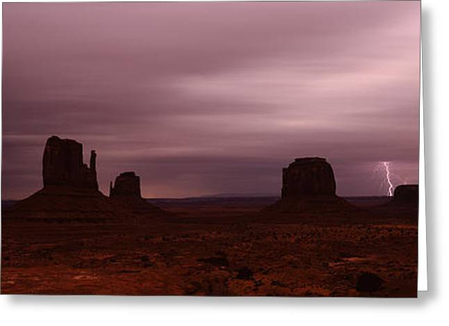 Thunderstorm Over A Landscape, Monument Greeting Card by Panoramic Images