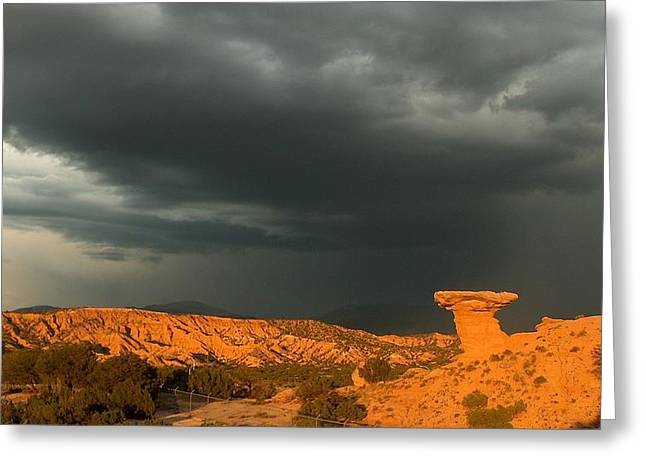 Thunderstorm Over Camel Rock Greeting Card by Tim McCarthy