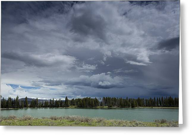 Thunderstorm Over Indian Pond Greeting Card