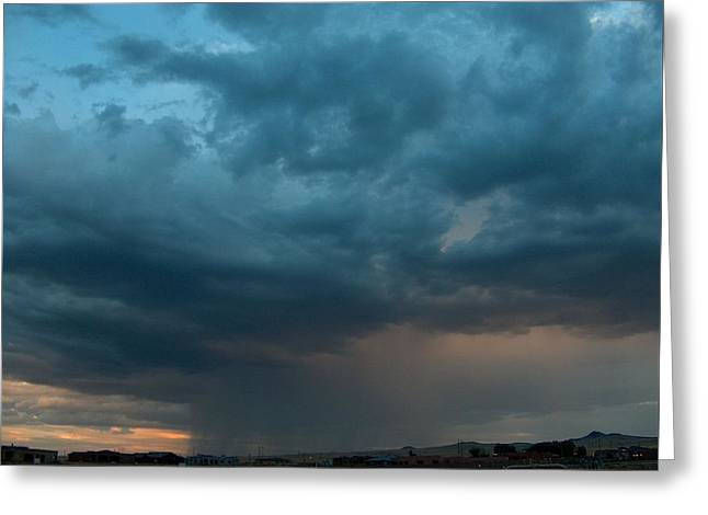 Thunderstorm Over The Petroglyphs Greeting Card by Tim McCarthy