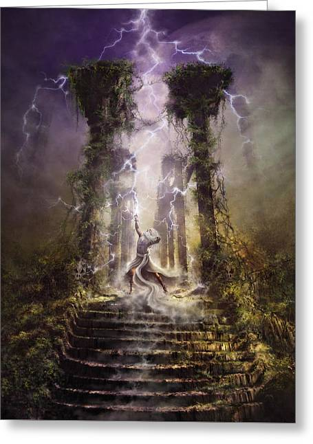 Thunderstorm Wizard Greeting Card